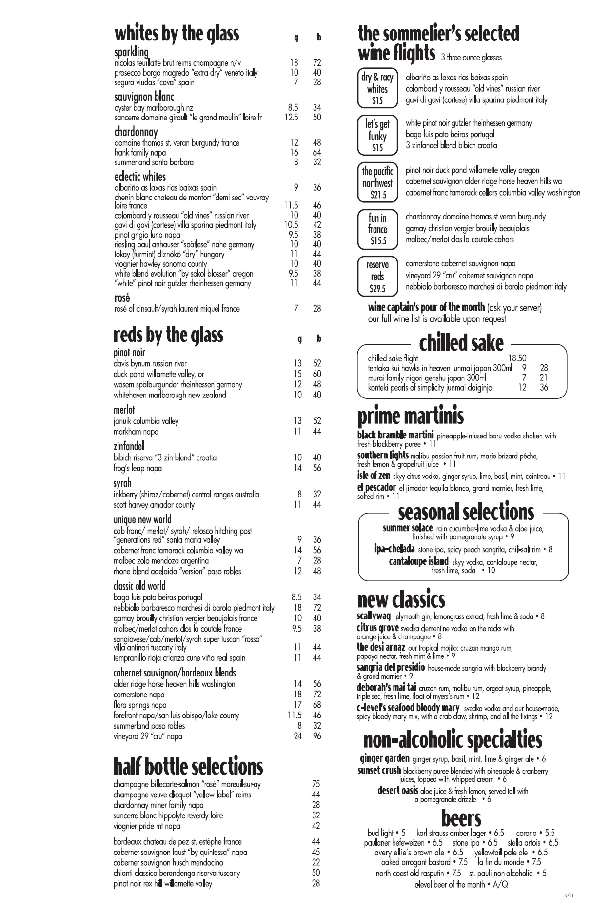 c-level wine list
