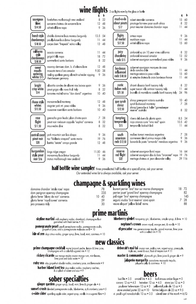 c-level wine list 2007