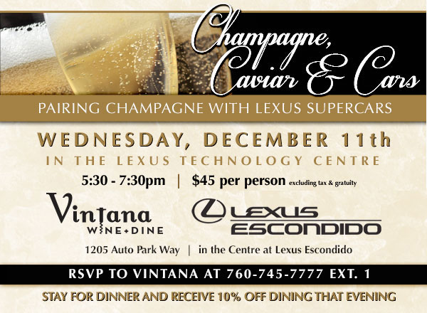 Champagne and Lexus