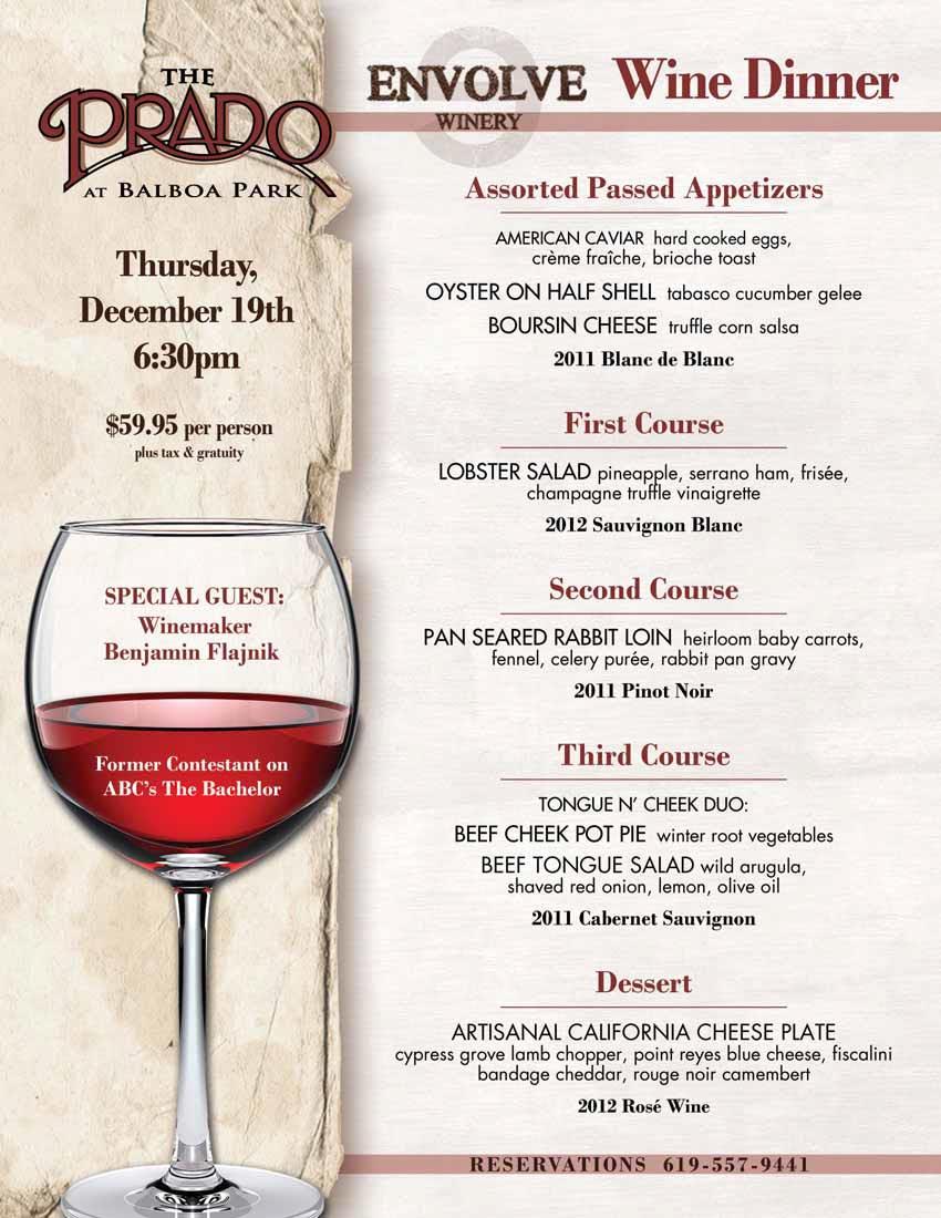 The Bachelor Wine dinner
