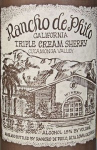 Rancho de Philo Cream sherry