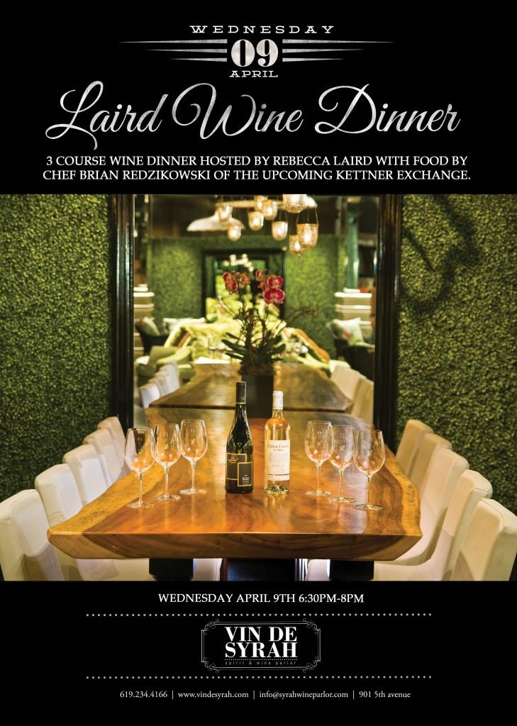 Laird Wine dinner