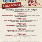 Paso Robles Wine Dinner