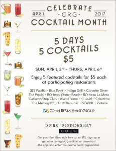 CRG Cocktail Month $5