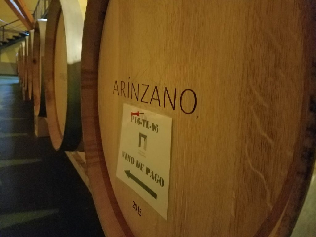 arinzano barrel room