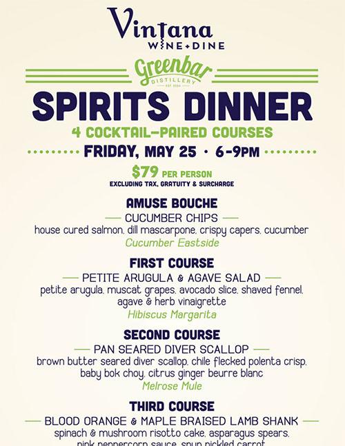 Greenbar Spirits Dinner