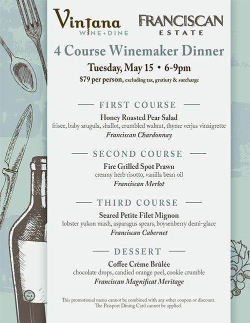 Franciscan wine dinner
